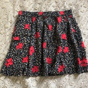 Urban Outfitters Skirts - Floral skirt w/red accent flowers
